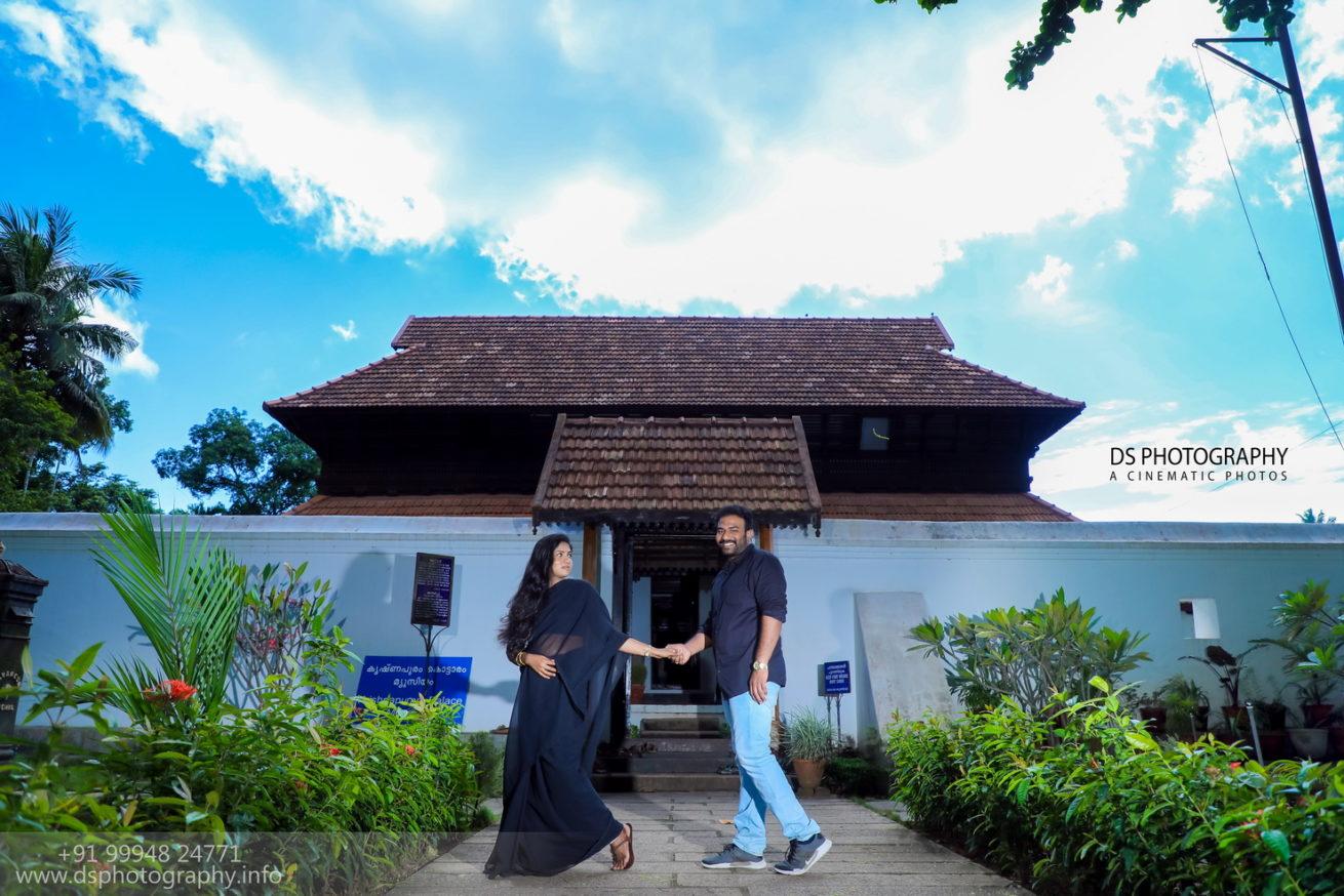 Post Wedding Outdoor Photography at Krishnapuram Palace Alleppey